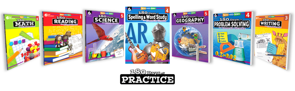 180 Days of Workbooks in over 10 Different Subjects for Grades K - 6