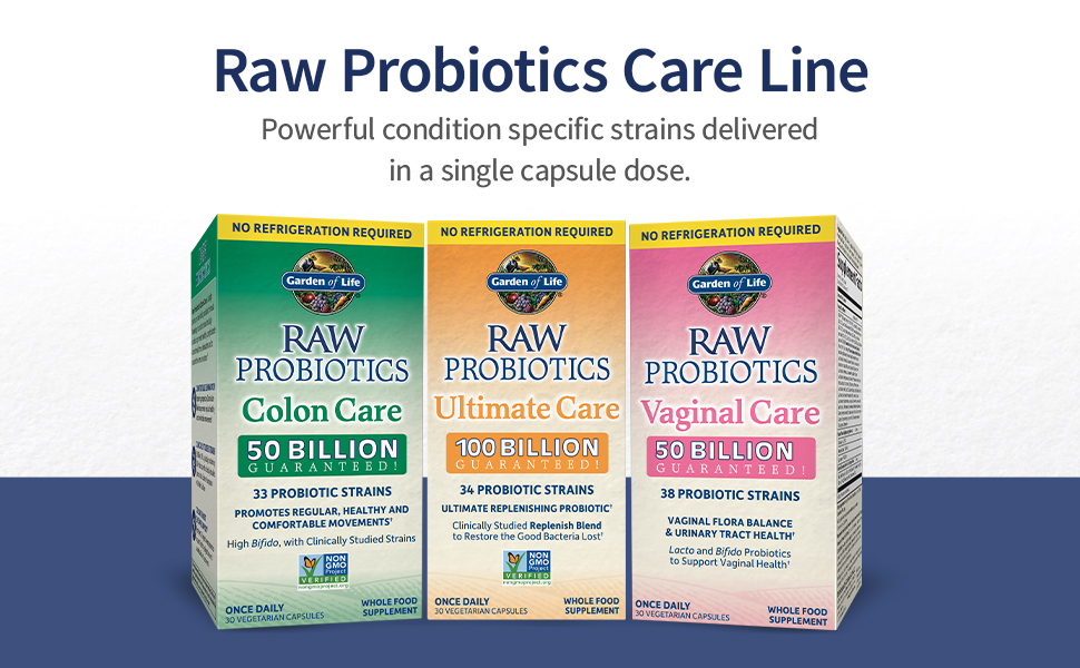 raw probiotics, 100 billion CFU, nongmo, gluten free NSF, digestion, clinically studied, small pill