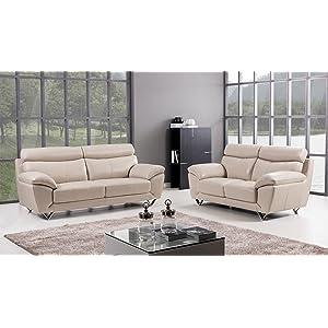 living room sofa set Italian grain leather