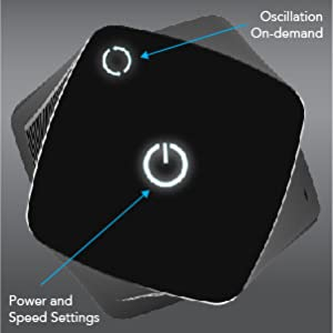 HELIX2 Oscillating Personal Tower Fan Controls