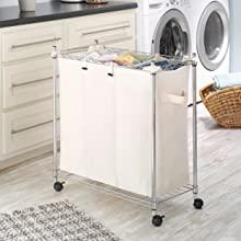 Whitmor Laundry Sorter Storage Organization Hamper Basket