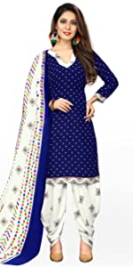 Cotton Printed Unstitched Dress Material With Printed Dupatta