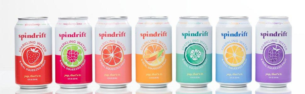 SpinDrift Sparkling Water Product Line