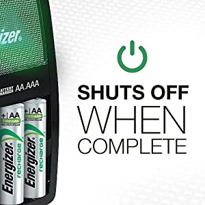 Shuts Off When Complete, Duracell, Amazon Basics, Lithium, Environmental Friendly, Recycled