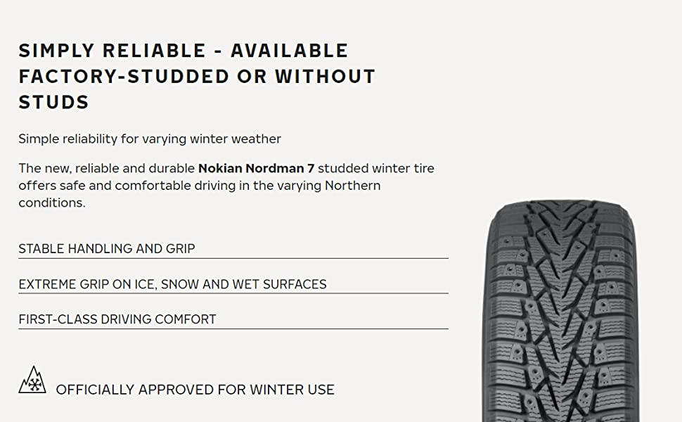 Amazon Com Nokian Nordman 7 Winter Studded Tire 165 65r14 79t Automotive