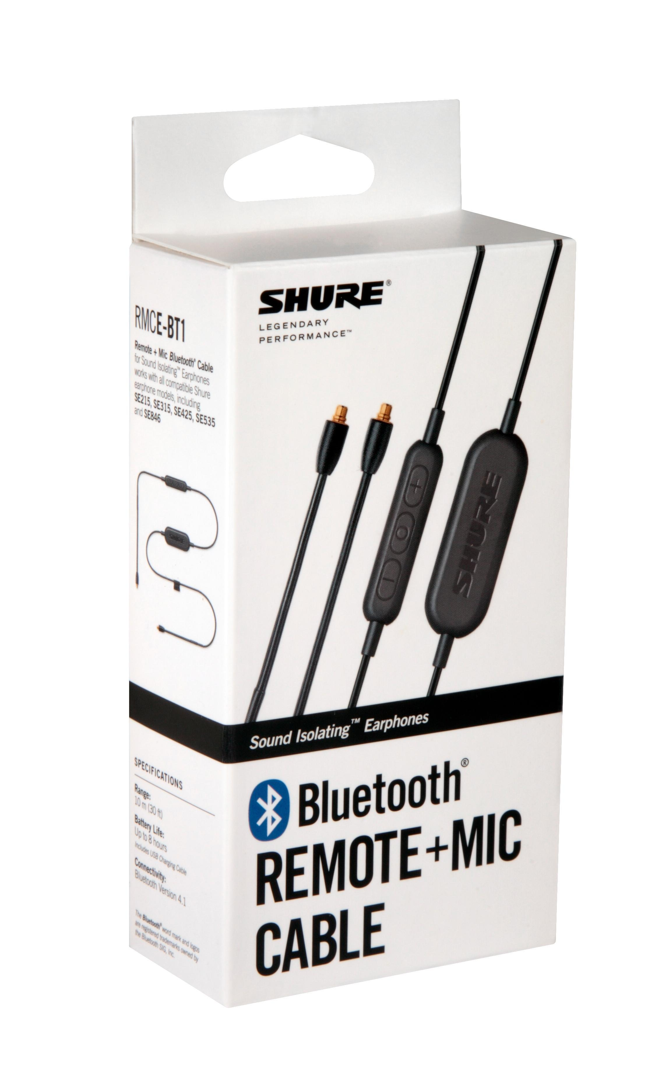 ccfded752d1 Shure RMCE-BT1 Bluetooth Enabled Accessory Cable with Remote + Mic ...