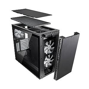 Fractal Design Define R6 Blackout Tempered Glass Eatx Computers Accessories