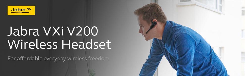 Jabra VXI V200 Headset System Wireless Headset/Music Headphones