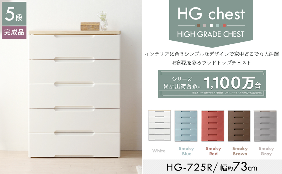 ウッドトップチェスト HG-555R