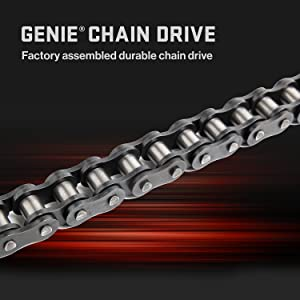 genie chain drive 750 equipped with a factory assembled durable chain drive