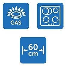 Herdschutzgitter-Funktionen: Für Gasherde und Elektroherde, Breite 60cm