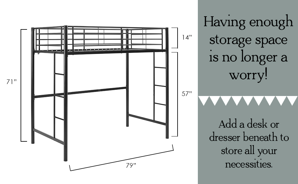 Amazon Com Walker Edison Orion Urban Industrial Metal Twin Over Loft Bunk Bed Twin Size White Furniture Decor