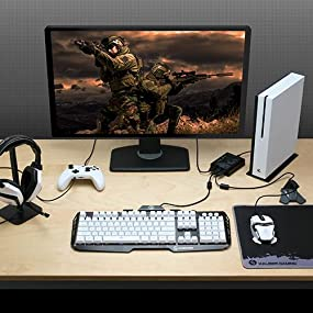 IOGEAR KeyMander Keyboard and Mouse Adapter for Xbox One, PS4, PS3, Xbox  360 (GE1337P)
