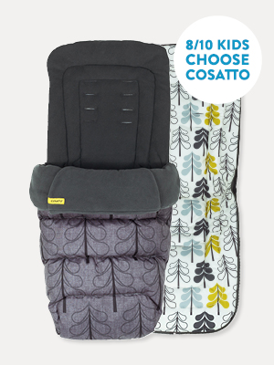 Cosatto Universal Footmuff All Season Luxury Quilted Pushchair Liner Cosy Toes Bunny Buddy Washable