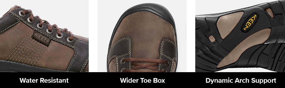 mens austin casual lifestyle sneaker shoe tech water resistant wide toe box dynamic arch support