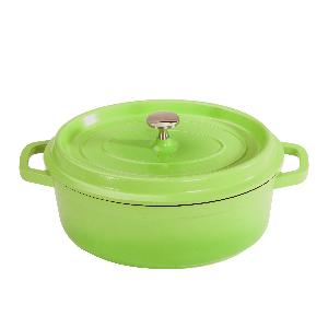 green, heiss, get, roaster, braise, pot, cast, iron, aluminum, bake, oven, stove, le creuset, handle