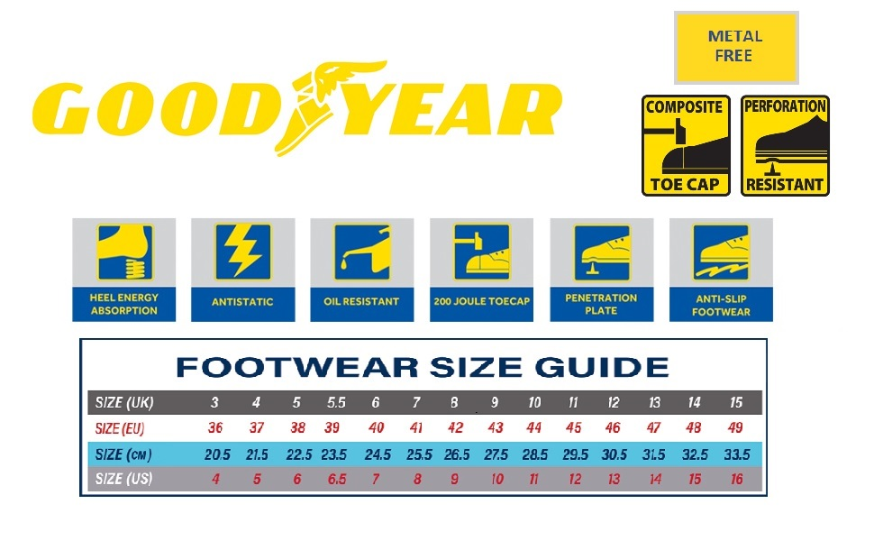 Goodyear; Safety Shoes; Boots; Trainers; Work; Workwear; Metal Free; Shoes; Footwear