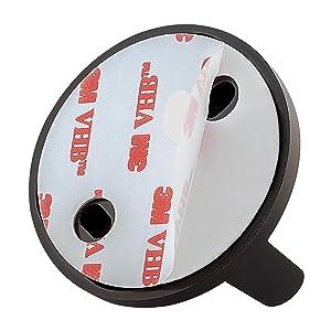 Badkameraccessoire, roestvrij staal, zwart, messing, gunmetal, zonder boren, plakken, toiltpapierhouder