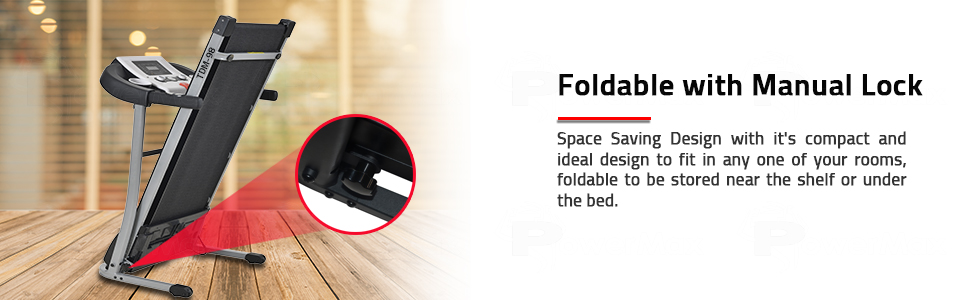 Unisex Adult 1.75HP Light Weight Foldable Motorized Treadmill Black Medium Free Installation Service