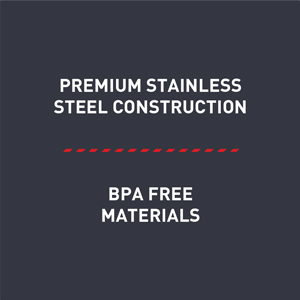 stainless steel, BPA free