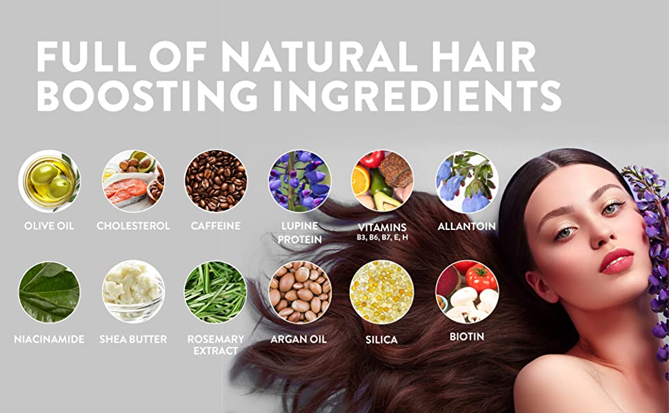 Hårförstärkare, starkt hår, torrt hår, svagt hår, hårfall, stoppa håravfall, snabb hårväxt, peta