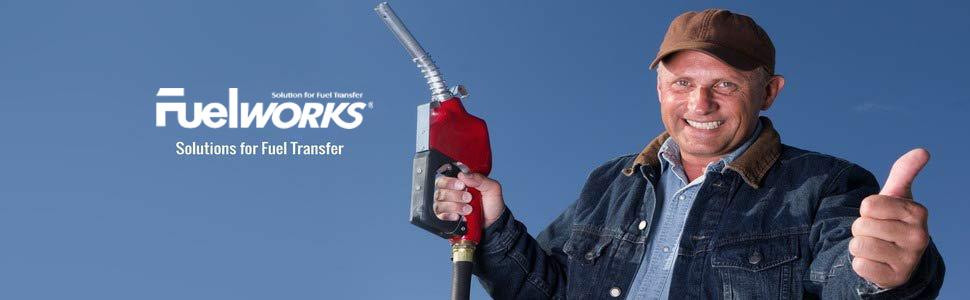 fuelworks AC DC meter pump diesel gasoline DEF UREA fluid 12V 120V 6.6GPM 8GPM 10GPM 15GPM 20GPM 1