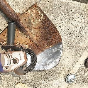 ディスクグラインダー 砥石 研磨 100mm 電動 ベベル ペンキ剥がし サビ取り ケレン用 鉄 黒皮取り 溶接 酸化皮膜取り 荒目 #80