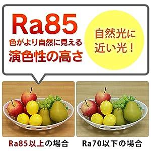 Ra85の高い演色性