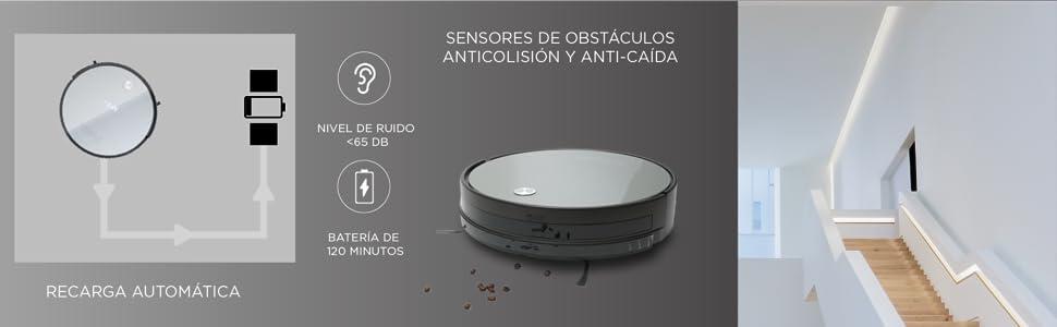 SOGO SS-16075 Robot aspirador NAVI G-1 | Barre y friega: Amazon.es ...