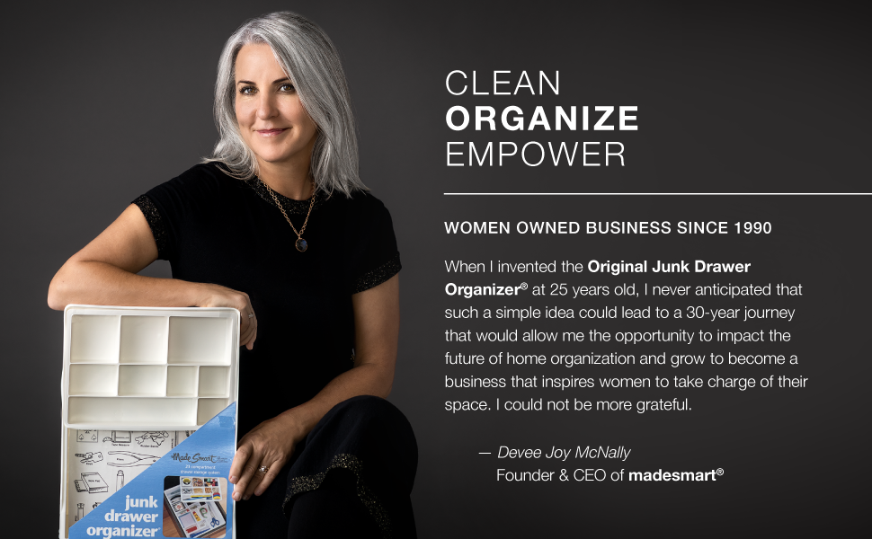 clean, organize, empower, women owned