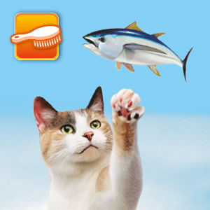 Cat with Fish Icon