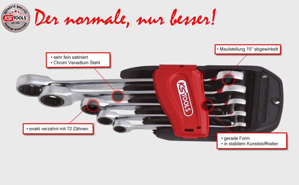 KS Tools 503.4105 GEARplus Ratschenringmaulschl/üssel 1//2