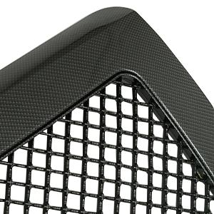 EAG Carbon Fiber Look ABS Replacement Upper Grille