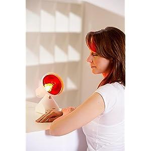 heat lamp, light therapy lamp, heat therapy lamp, IL21, beurer, IR lamp, infrared lamp heat lamp, li