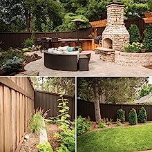 fence, backyard, spray fence