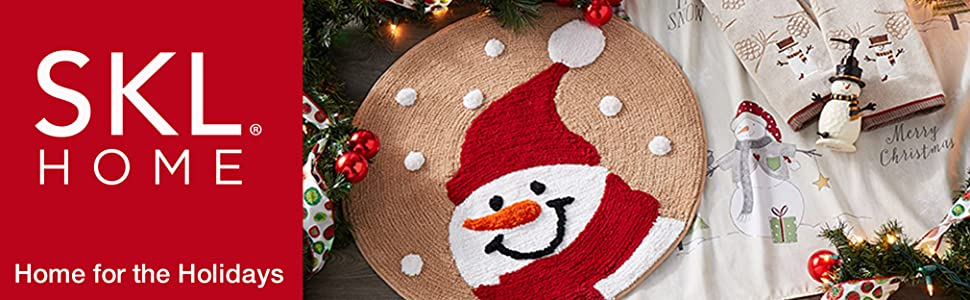 SKL Home Christmas Xmas Holiday Snowman Snowflakes Winter