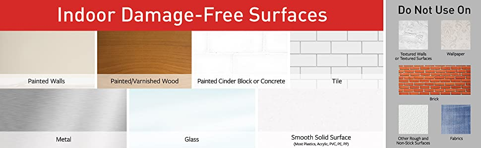 indoor damage-free surfaces