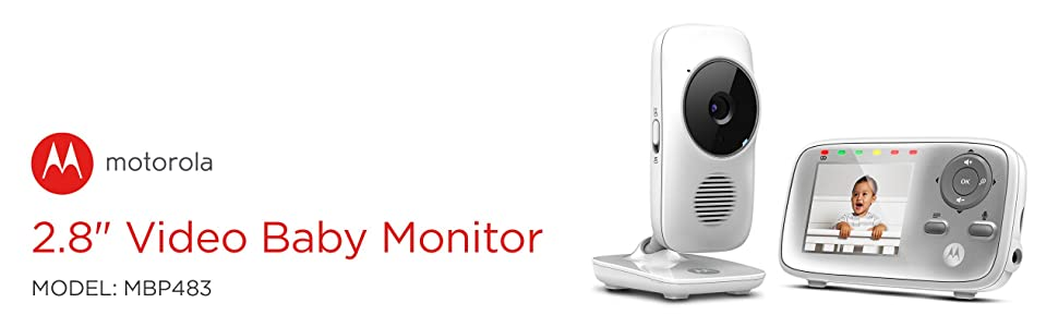 Motorola MBP483 2.4 GHz Digital Video Baby Monitor with Color Screen,