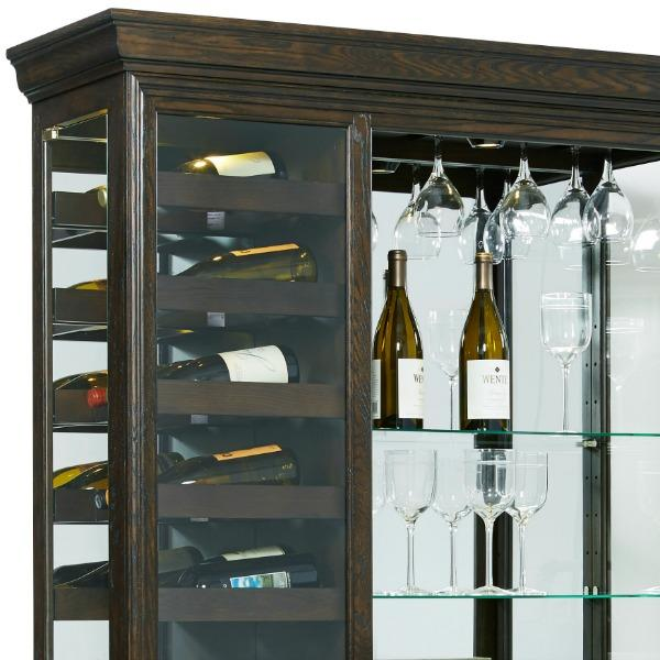 View larger & Amazon.com: Pulaski Hillsville Mirrored Wine Rack Curio Cabinet ...