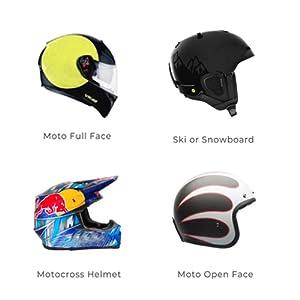 Off-Road (Motocross) helmet, modular (flip-up) helmet and open face helmets