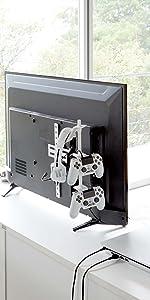 山崎実業 テレビ裏 ゲーム コントローラー 収納 ラック スマート ホワイト 5090