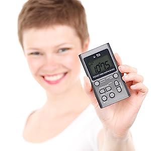 portable pocket mini am fm radio