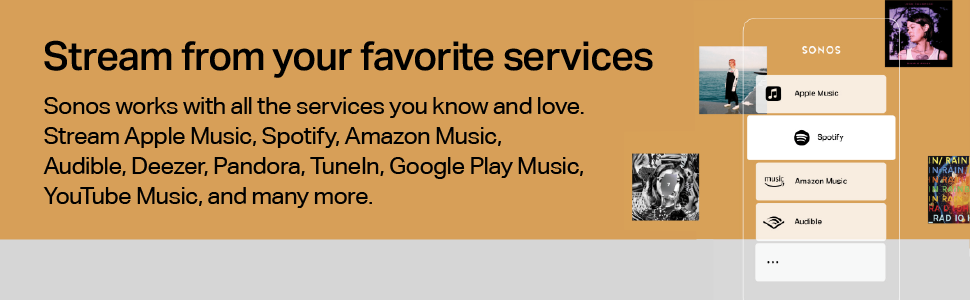Sonos One - Stream from your favourite services
