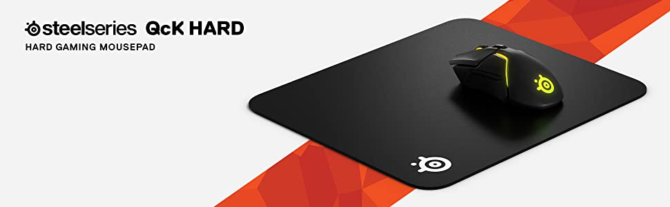 SteelSeries QcK Hard, Mouse pad da gioco, Rugosità superficiale migliorata, sensori di gioco