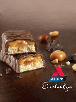 atkins caramel nut chew bars low carb keto friendly