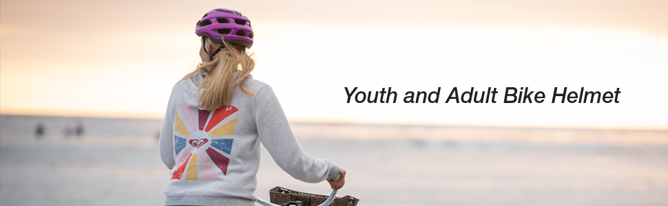 Connect youth and adult bike helmet