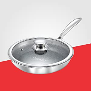 Prestige Tri-Ply Honey Comb Stainless Steel Fry Pan
