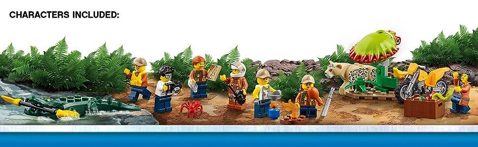 Amazon.com: LEGO City Jungle Explorers Jungle Exploration Site 60161 ...