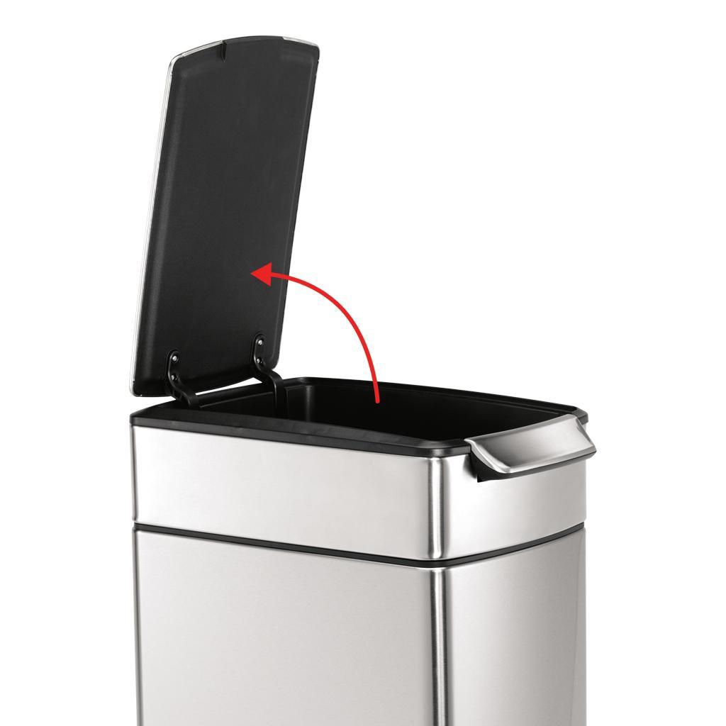 Amazon Com Simplehuman Slim Rectangular Touch Bar Trash