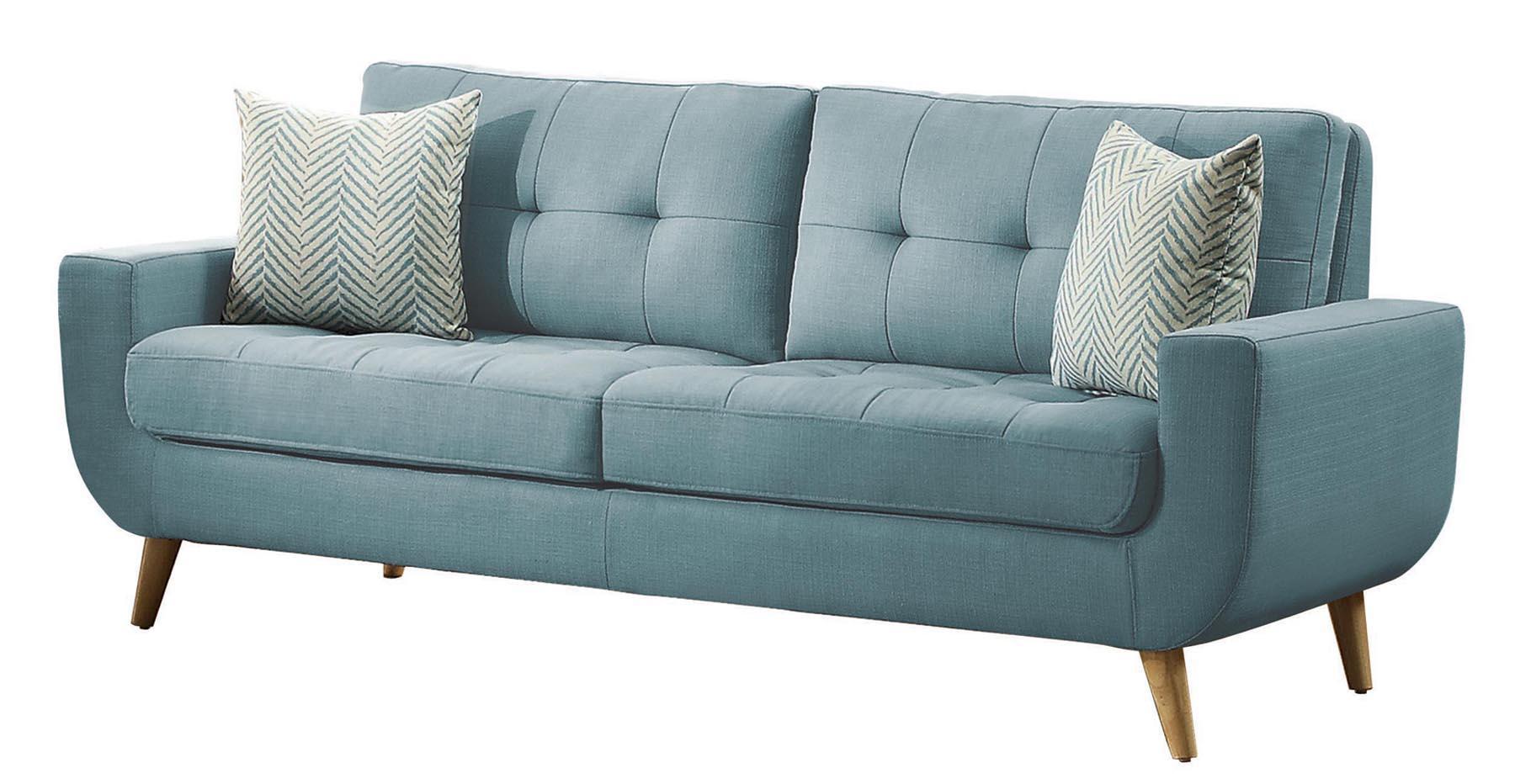 Homelegance deryn 86 sofa with tufted back for Pink sofa login
